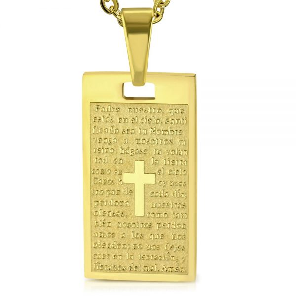 Amanto Ketting Amdy - Heren - 316L Staal - Tekst - Dogtag - 56 cm-0