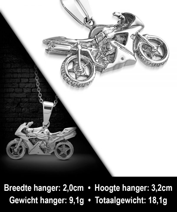Amanto Ketting Alican - Heren - Staal - Sport - Moto - 24x45mm - 60cm-11877