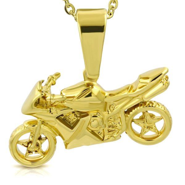 Amanto Ketting Alican Gold - Heren - 316L Staal - Sport - Moto - 56 cm-0