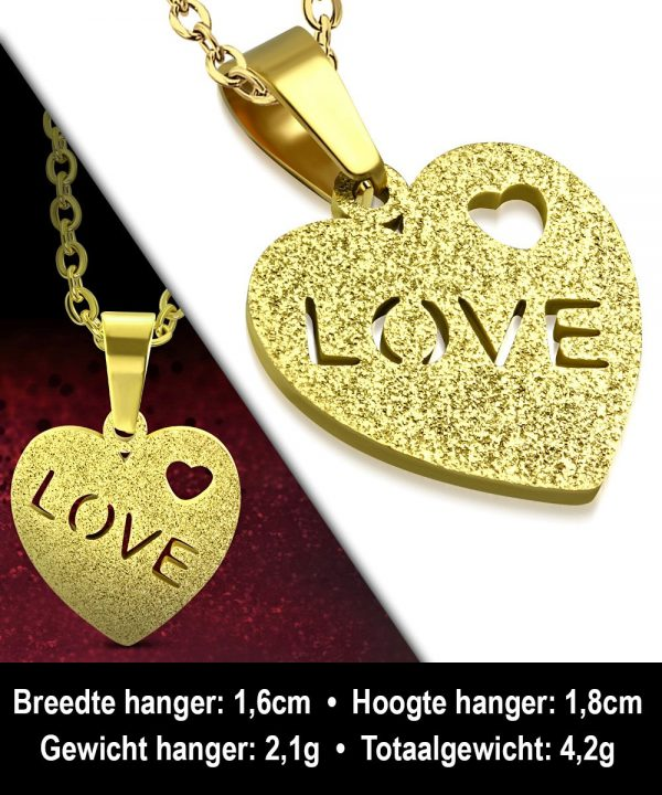 Montebello Ketting Azime - Dames - 316L Staal - Hart - 18 x 16 mm - 50 cm-12283