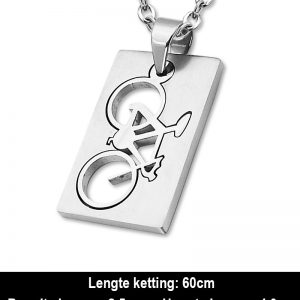 Amanto Ketting Anil - 316L Staal - Sport - Fiets - 40x25mm - 60cm-12330