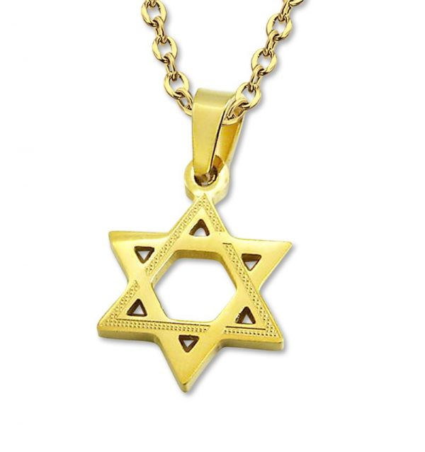 Amanto Ketting Anko - Heren - 316L Staal - Symbool - Davidster - ∅ 21 mm - 60 cm-0