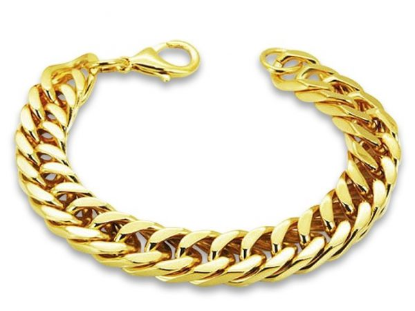 Amanto Armband Admin - Heren - 316L Staal Goud PVD - 12 mm - 21cm-0