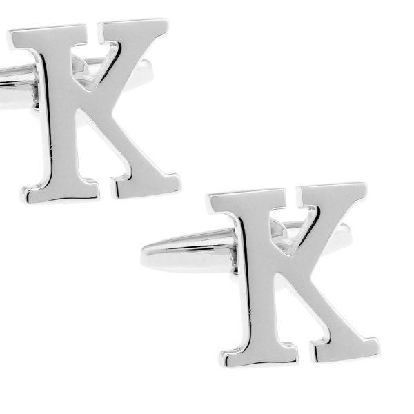 Amanto Manchetknopen Letter K - Heren - Messing - Alfabet - 15x14mm-0