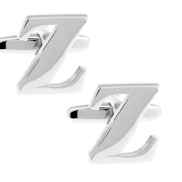 Amanto Manchetknopen Letter Z - Heren - 316L Staal- Alfabet - 10x18 mm-0