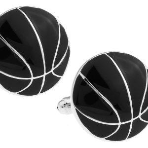 Amanto Manchetknopen Aur - Heren - Staal - Sport - Basket - ∅20mm -0
