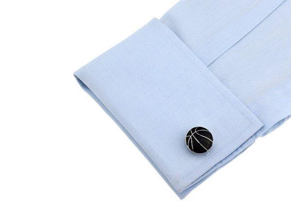Amanto Manchetknopen Aur - Heren - Staal - Sport - Basket - ∅20mm -12863