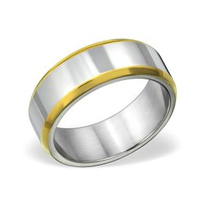 Amanto Ring Avery - Heren - 316L Staal Goud PVD - 8 mm -0