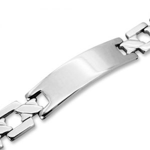 Amanto Armband Bamho - Heren - 316L Staal - ID - Graveer - 13 mm - 22 cm-0
