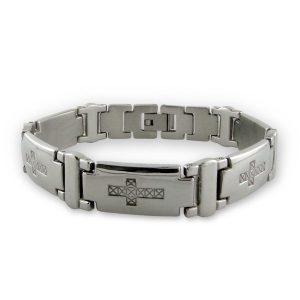 Montebello Armband Benin - Heren - 316L Staal - Kruis - 12 mm - 21cm-0