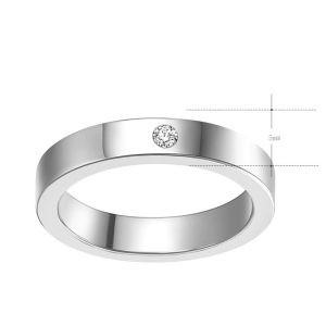 Montebello Ring Tabea - Unisex - 316L Staal - Zirkonia - Trouw - 5 mm -0
