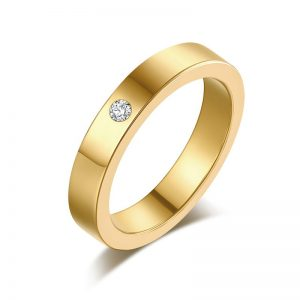 Montebello Ring Tabea Gold - Unisex - 316L Staal - Zirkonia - Trouw - 5 mm -0