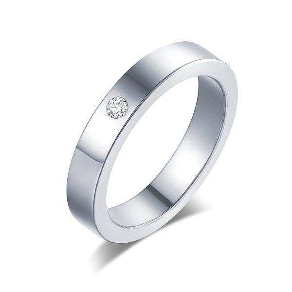 Montebello Ring Tabea - Unisex - 316L Staal - Zirkonia - Trouw - 5 mm -13158