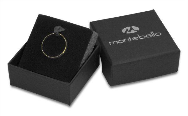 Montebello Ring Tabea Gold - Unisex - 316L Staal - Zirkonia - Trouw - 5 mm -13160