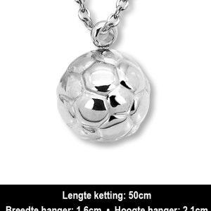 Amanto Ketting Arlando - Heren - Staal - Sport - Voetbal - 21x16mm - 45cm-12485