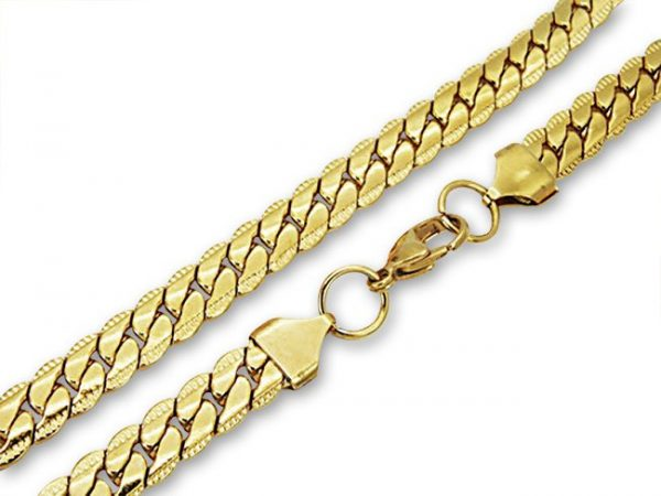 Amanto Ketting Barlas - 316L Staal PVD Verguld - 8mm - 60cm-0