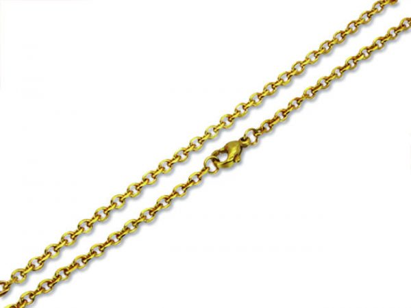 Amanto Ketting Baruch G - Heren - 316L Staal PVD - Anker - 3mm - 50cm-0