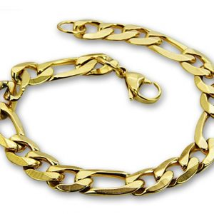 Amanto Armband Basim Gold - Heren - 316L Staal Goud PVD - 9 mm - 20 cm-0