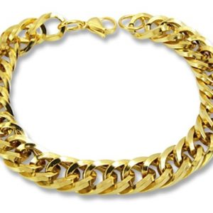 Amanto Armband Bayram - Heren - 316L Staal Goud PVD - 11 mm - 22 cm-0