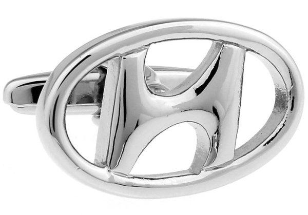 Montebello Manchetknopen Hyundai - Heren - 316L Staal - Autologo - 15 x 23 mm-13353