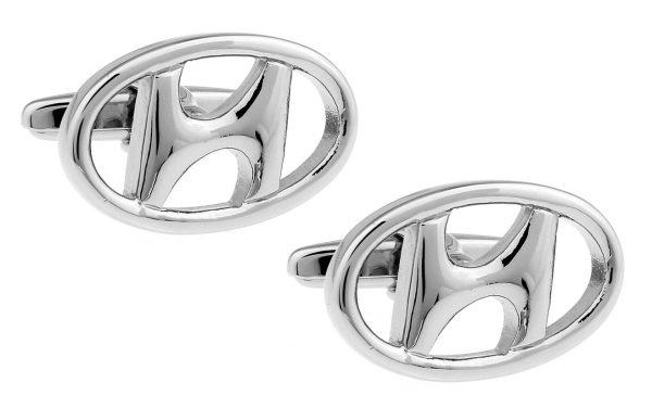 Montebello Manchetknopen Hyundai - Heren - 316L Staal - Autologo - 15 x 23 mm-0