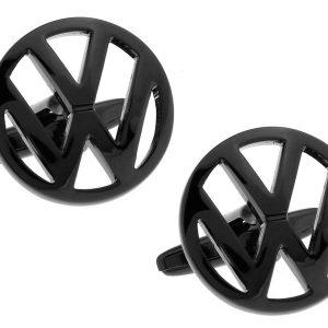 Montebello Manchetknopen Volkswagen Black - Heren - 316L Staal - Autologo - ∅ 19 mm-0
