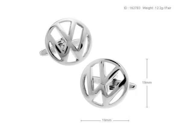 Montebello Manchetknopen Volkswagen - Heren - 316L Staal - Autologo - ∅ 19 mm-13328