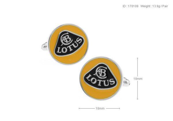Montebello Manchetknopen Lotus - Heren - 316L Staal - Autologo - ∅ 18 mm-13305