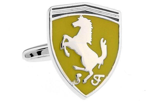 Montebello Manchetknopen Ferrari - Heren - 316L Staal - Autologo - 17 x 21,5 mm-13321