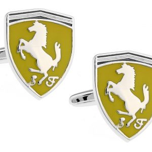 Montebello Manchetknopen Ferrari - Heren - 316L Staal - Autologo - 17 x 21,5 mm-0