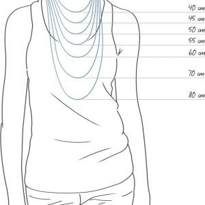 Amanto Ketting Blue - Dames - 316L Staal - Popje - 23 x 20 mm - 45 cm-16561