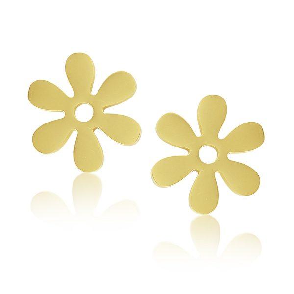 Montebello Oorbellen Blume Gold O - Dames - 316L Staal Goud PVD - Bloem - ∅ 13 mm-0