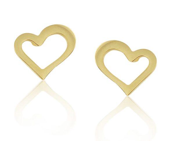 Montebello Oorbellen Boeli Gold O - Dames - 316L Staal Goud PVD - Hart - 7 x 9 mm-0