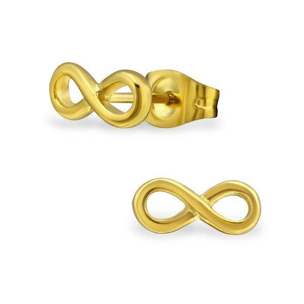 Amanto Oorbellen Branko Gold - Dames - 316L Staal Goud PVD - Infinity - 10 x 4 mm-0