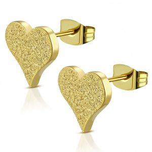 Amanto Oorbellen Bekir Gold - Dames - 316L Staal Goud PVD - Hart - 9 x 10 mm-0