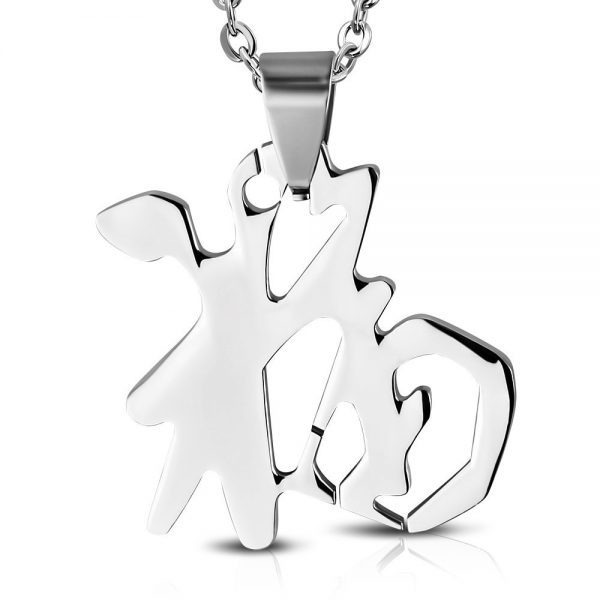 Amanto Ketting Blessing - Dames - 316L Staal - Symbool - Zegen - 12 x 12 mm - 40 cm-0