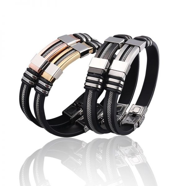 Montebello Armband Malens Gold - 316L Staal - Siliconen - 20.5cm-13975