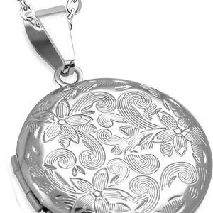 Montebello Ketting Arina - Dames - 316L Staal PVD - Rond - Medaillon - ∅30 mm - 45 cm-0