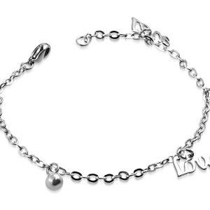 Amanto Armband Cemre - Dames - 316L Staal - Geluk - Klaver - 17 cm-14123
