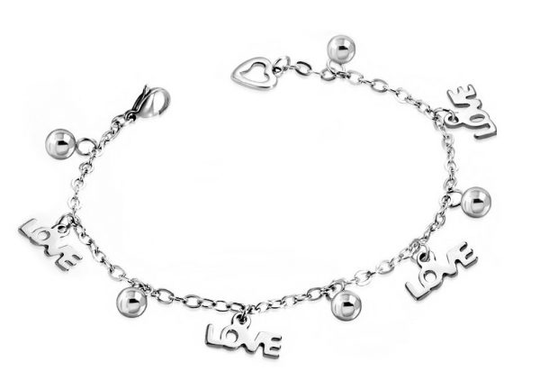 Amanto Armband Cemal - Dames - 316L Staal - Liefde - 18 cm-0