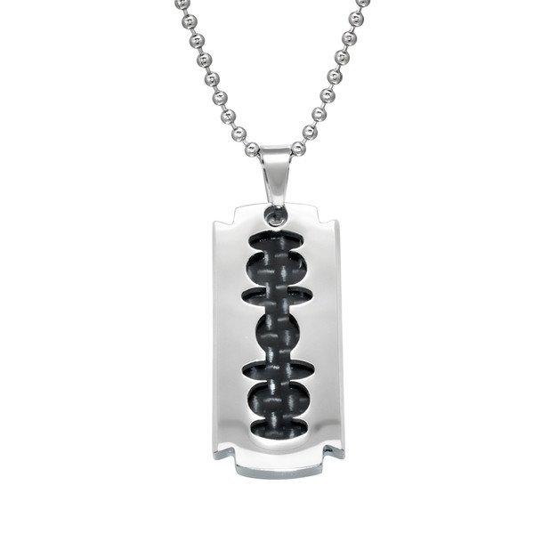 Montebello ketting Abrar - Heren - 316L staal - Carbon - 16x33mm - 50cm-0