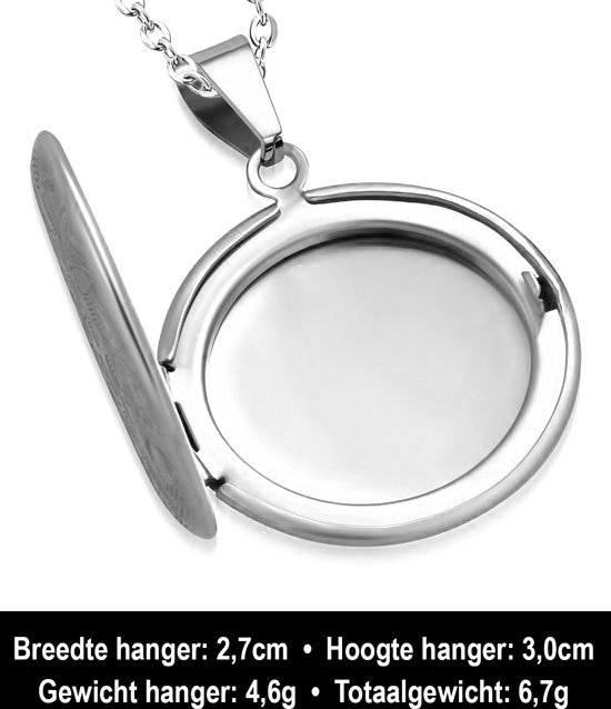 Montebello Ketting Arina - Dames - 316L Staal PVD - Rond - Medaillon - ∅30 mm - 45 cm-13927