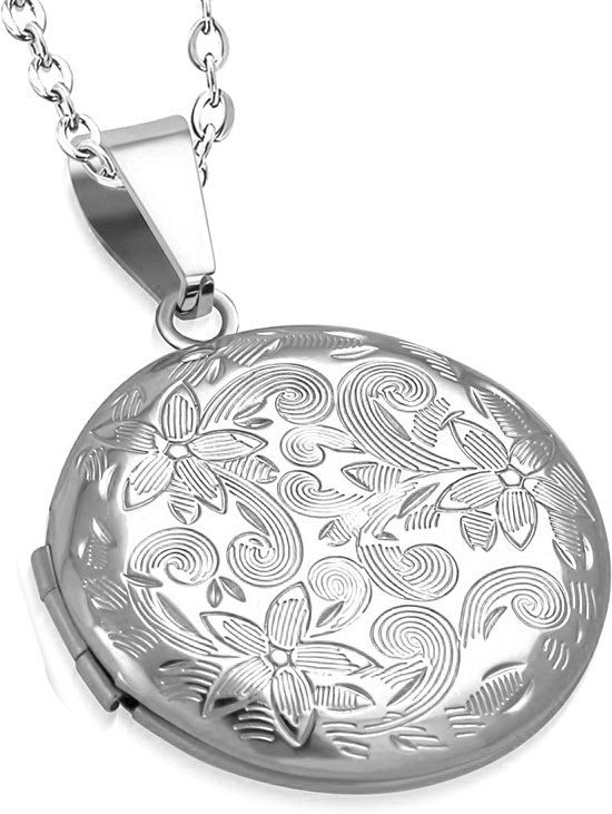 Montebello Ketting Arina - Dames - 316L Staal PVD - Rond - Medaillon - ∅30 mm - 45 cm-13928