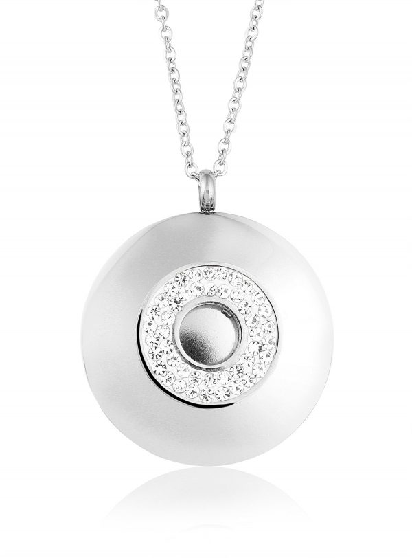 Montebello Ketting Bowdy - Dames - 316L Staal PVD - Zirkonia - 3 x 35 mm - 45 cm-0