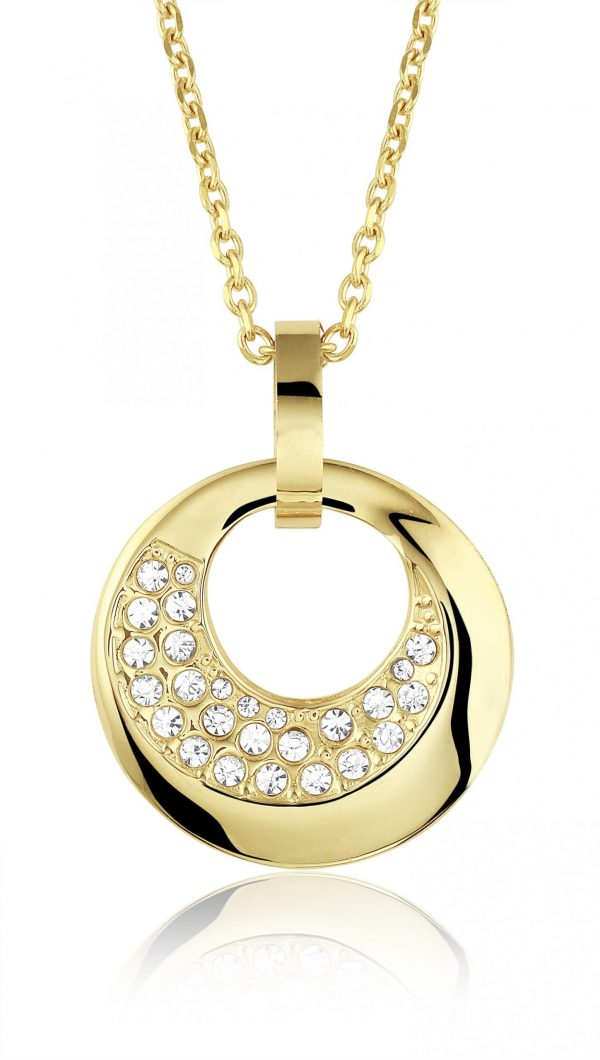 Montebello Ketting Brentje - Dames - 316L Staal Goud PVD - Zirkonia - 34 x 34 mm - 50 cm-0