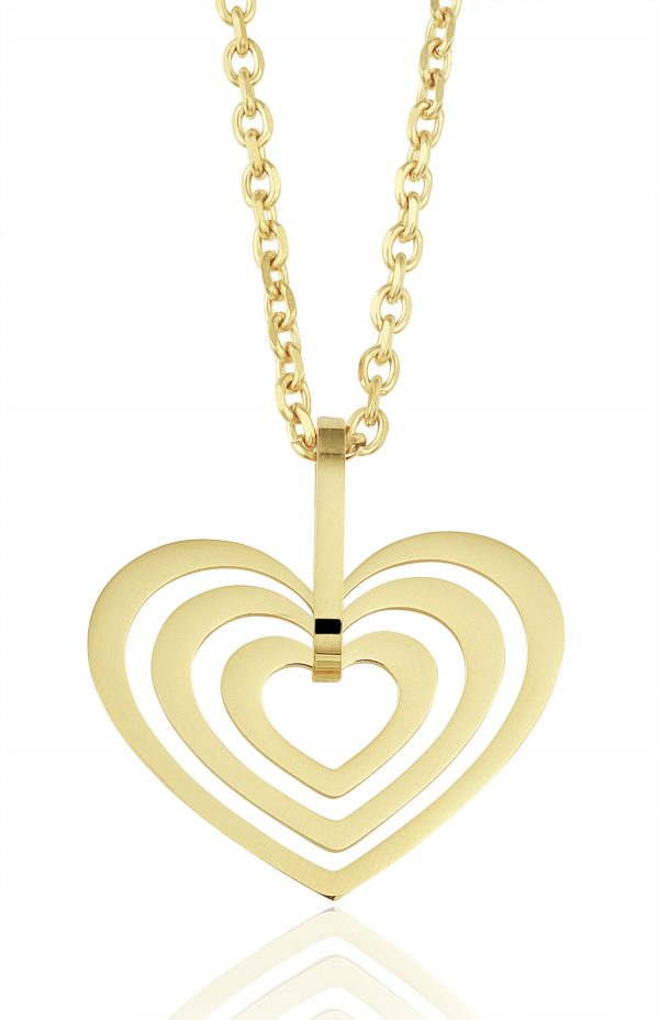 Montebello Ketting Britny G - 316L Staal PVD - Hart - 33x32mm - 50cm-0