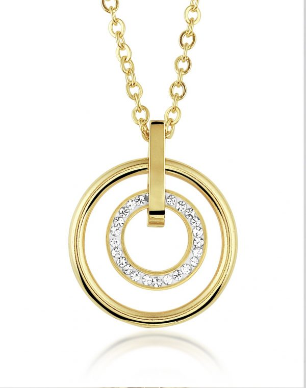 Montebello Ketting Brooke - Dames - Staal PVD - Zirkonia - 20x20mm - 45cm-0