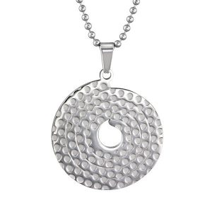 Amanto ketting Cameon - Dames - 316L Staal - Rond - ∅32 mm - 50 cm-14011