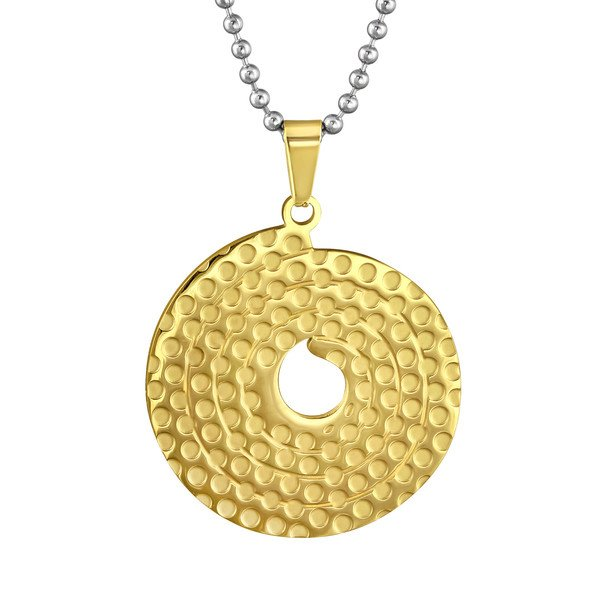Amanto ketting Cameon Gold - Dames - 316L Staal - Rond - ∅32 mm - 50 cm-14013