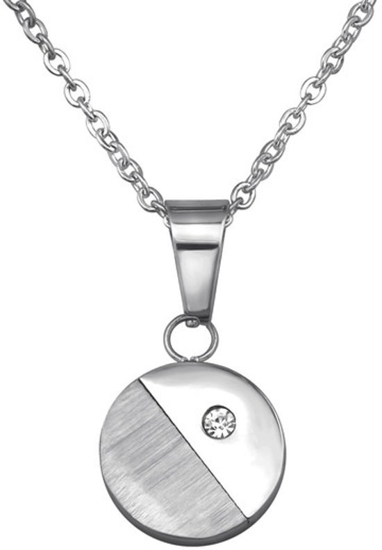 Amanto ketting Camille - Dames - 316L Staal - Zirkonia - Rond - ∅12 mm - 45 cm-0
